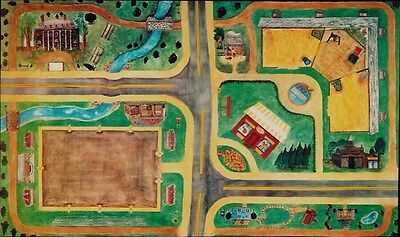 USA Made HORSEPLAY Rug COUNTRY Town PLAY MAT for Breyer Horse Toys Trucks Cars