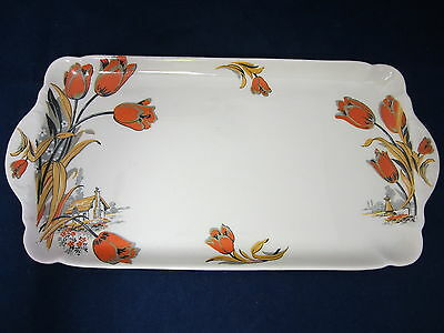 J&G MEAKIN - Sun Glow - Orange Tulips - Black Stems- House - LOAF TRAY - 43F