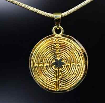 Orpanit® Orgonit Wendeamulett Energie Anhänger Labyrinth Chartres Messing