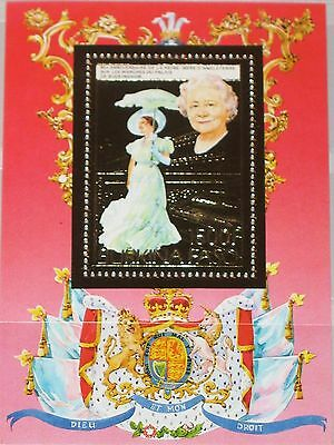 BURKINA FASO 1985 Block 100 A Queen Mother 85th Birthday Royals Gold Foil MNH
