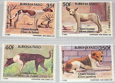 BURKINA FASO 1989 1214-17 879-82 Dogs Hunde Fauna Domestic Animals Tiere MNH