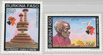 BURKINA FASO 1993 1282-83 957-58 African Film Movie Festival FESPACO Actor MNH