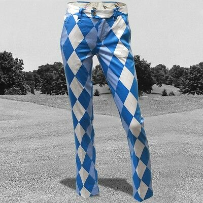 Funky Ladies Golf Trousers Royal and Awesome Old Tom's Trews Blue 8,10,12,14,18