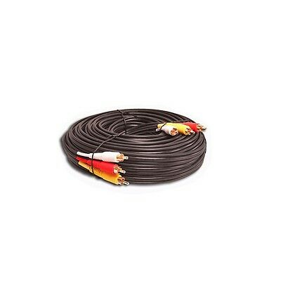 20 FT FOOT 3 RCA GOLD AUDIO VIDEO COMPOSITE CABLE 20ft