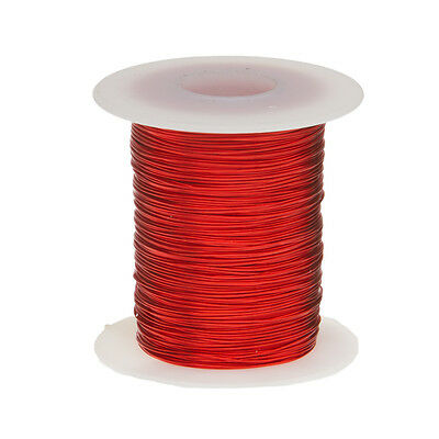 "25 AWG Gauge Enameled Copper Magnet Wire 8oz 506' Length 0.0188"" 155C Red"