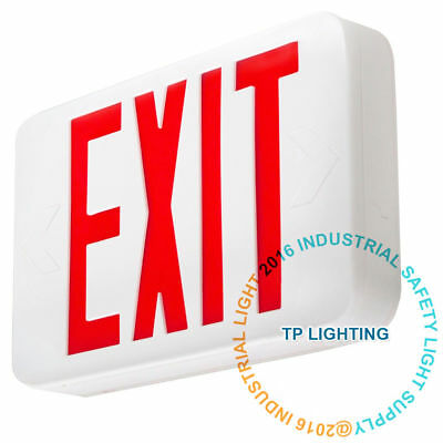 Red LED Emergency Exit Light Sign - Modern Battery Backup UL924 Red Letter