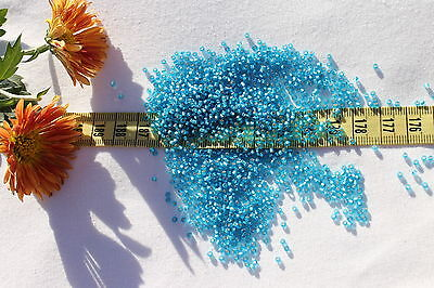 11/0 Toho Seed Beads 192-Silver Lined Frosted Dark Aquamarine/28 grams # 23BF