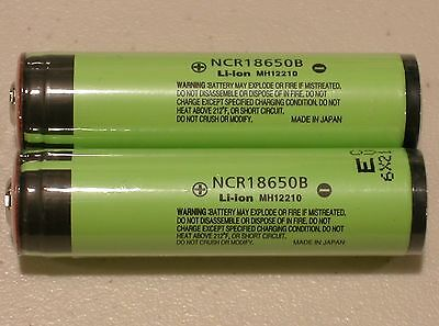 2 PANASONIC NCR18650B LI-ION BATTERY 3400mAh 3.7v 18650 NEW PROTECTION PCB JAPAN