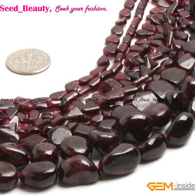 """Natural Freeform Red Garnet Chips Loose Beads Strand 15"""" Size and Shape Select"""