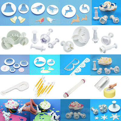 Fondant Cake Decorating Gum Paste Equipment Mould Sugarcraft Cutters XMAS Tools