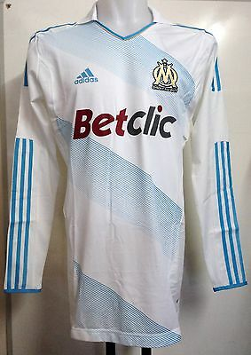 Olympic Marseille Player Issue 2011/12 L/s Techfit Home Shirt By Adidas Size Xl