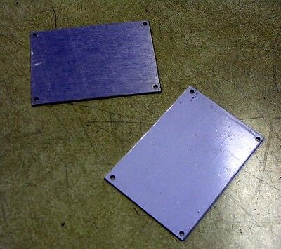 """5-pack Keystone 2044 Blank Aluminum Panel / Cover, 0.062"""" thick"""