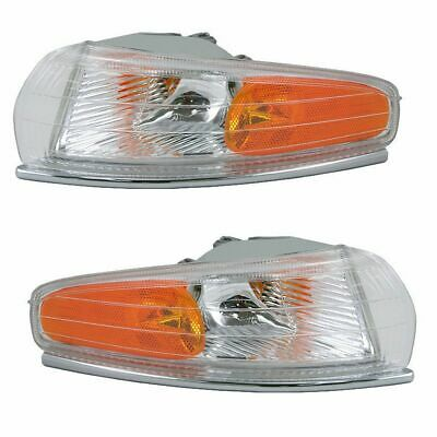 Front Side Marker Park Light Turn Signal Pair Set for Chrysler LHS New Yorker