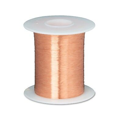 "44 AWG Gauge Enameled Copper Magnet Wire 8oz 39899' Length 0.0022"" 155C Natural"