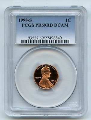 1998 S 1C Lincoln Cent Proof PCGS PR69DCAM