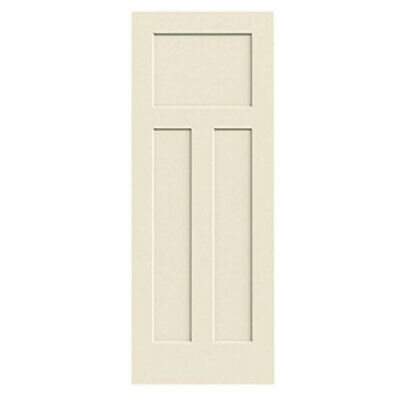 Craftsman 3 Panel Primed Smooth Molded Solid Core Wood Composite Interior Doors