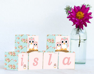 Personalised Wooden Name Blocks PRICE PER BLOCK/LETTER Custom Made Pretty Chic