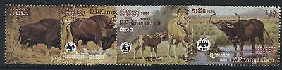 Wildlife - Kampuchea 1986 Cattle Set Mnh Sg.781-784 (Ref.b8)