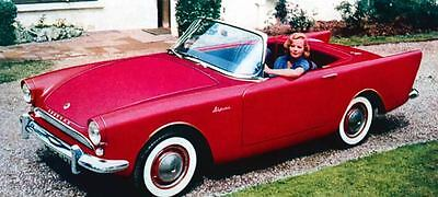 1960 Sunbeam Alpine Factory Photo J261