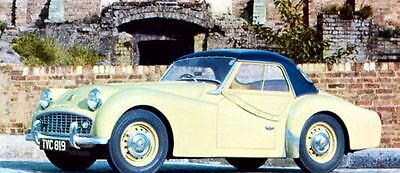 1960 Triumph TR3 with Hardtop Factory Photo J283