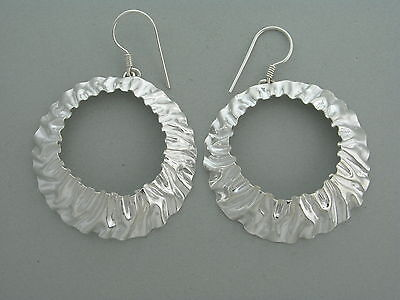 Sumaq Design House Peru 2013 Collection - 950 Silver Round Repousse Earrings
