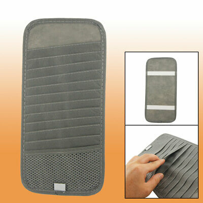 Gray Sun Visor CD DVD Holder Case 12 Compartments for Car Auto