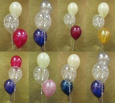 Helium Balloon Decoration Diy Kit  5 Or 10 Table Bouquet Centrepieces