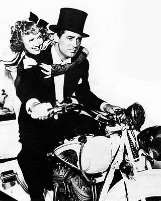 1936 Irene Dunne & Cary Grant & Indian Motorcycle Photo J895