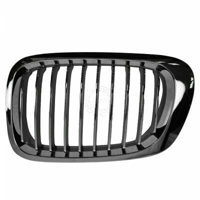 Upper Grille Grill Chrome & Black Driver Side Left LH NEW for BMW 3 Series E46