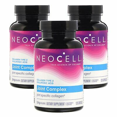3 x Neocell Collagen Type 2 Joint Complex + HA 120 Caps, Fresh Made In USA