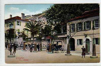 (Lt316-384)  The Library, GIBRALTAR Unused, c1905 G,