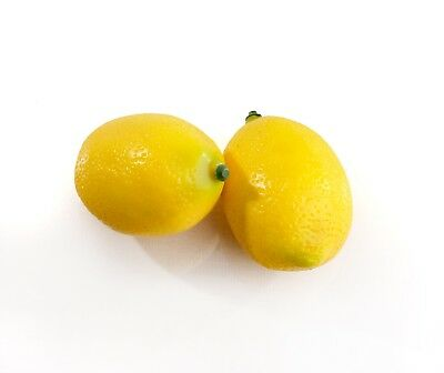 2 Large Best Artificial Lemons Decorative Realistic Fruit New Weighted