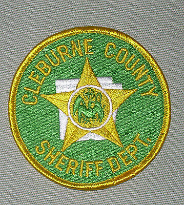 Cleburne County Arkansas Sheriff  Police Patch    Obsolete Used