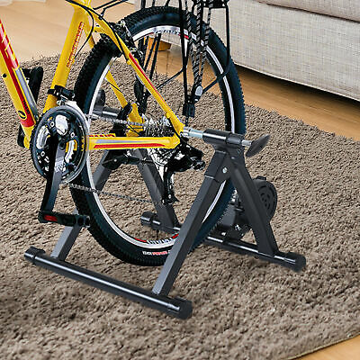 Soozier Folding Indoor Magnetic Bike Trainer Exercise Bicycle Cycling Black