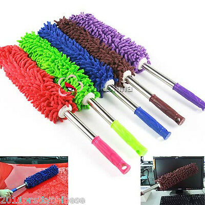 Microfibre Microfiber Noodle Pole Duster Car Home Cleaning Dusting Office Brush