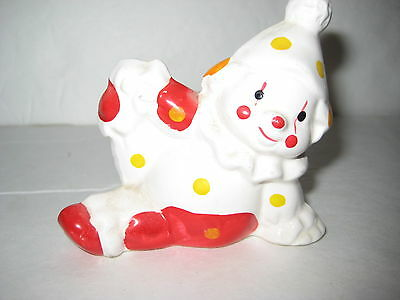 """""""VINTAGE SEATED CLOWN FIGURINE"""" CIRCUS CLOWN WITH HAND ON KNEE, 3"""" X 3"""""""