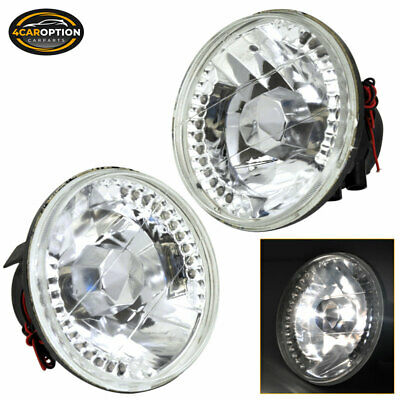 FITS CRYSTAL ROUND 5 3 4 Inch 5 75 Inch LED Sealed Beam Conversion  Headlights
