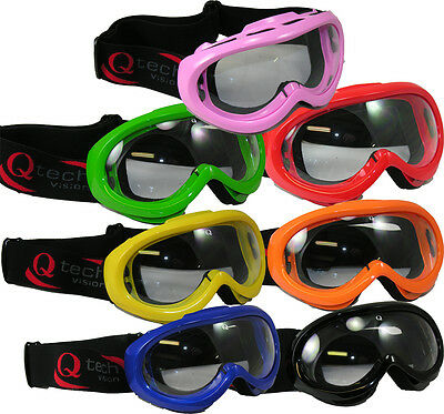 Childrens GOGGLES kids for MOTOCROSS Trials Enduro Motocross Helmet by Qtech