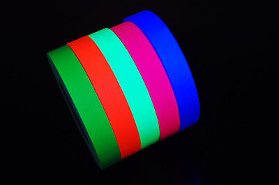 1 Inch UV Blacklight Reactive Fluorescent Gaffer Tape 1 Roll x 50 Yards