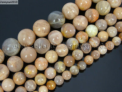 Natural Sunstone Gemstone Round Beads 15.5'' 2mm 4mm 6mm 8mm 10mm 12mm 14mm 16mm