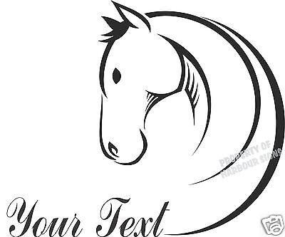 "Horse Equestrian  24"" Custom Decal Trailer Truck Car Window Vinyl Sticker"