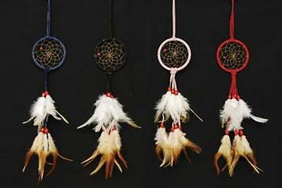 Mini Dream Catcher Dreamcatcher  Feathers And Bead Wall Decor Hanging New