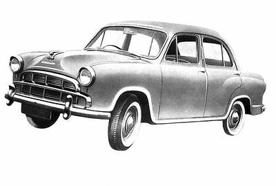 1964 Hindustan Ambassador Factory Photo India J3145