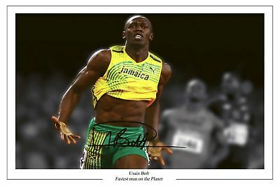 Usain Bolt 2008 Olympics Autograph Signed Photo Print 2
