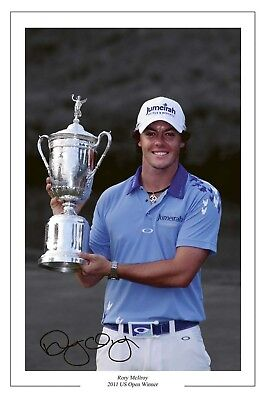 Rory Mcilroy Us Open Golf Win 2011 Signed Photo Print