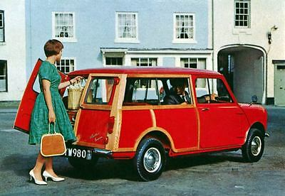 1965 Austin Mini Minor Countryman Wagon Factory Photo J3388