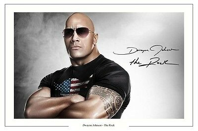 The Rock Dwayne Johnson Signed Photo Print Fast And Furious 6 Wrestling