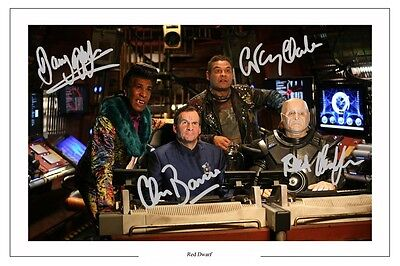 Red Dwarf Cast Signed Photo Print Autograph Poster Kryten Lister