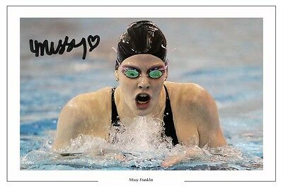 Missy Franklin Swimming Autograph Signed Photo Print Olympics