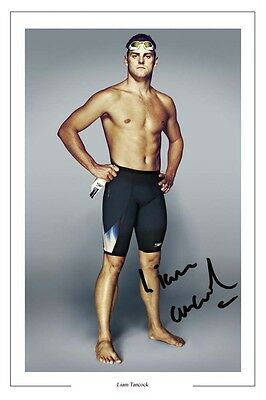 Liam Tancock Swimming Autograph Signed Photo Print